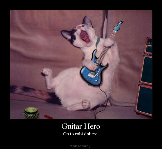 Guitar Hero - On to robi dobrze