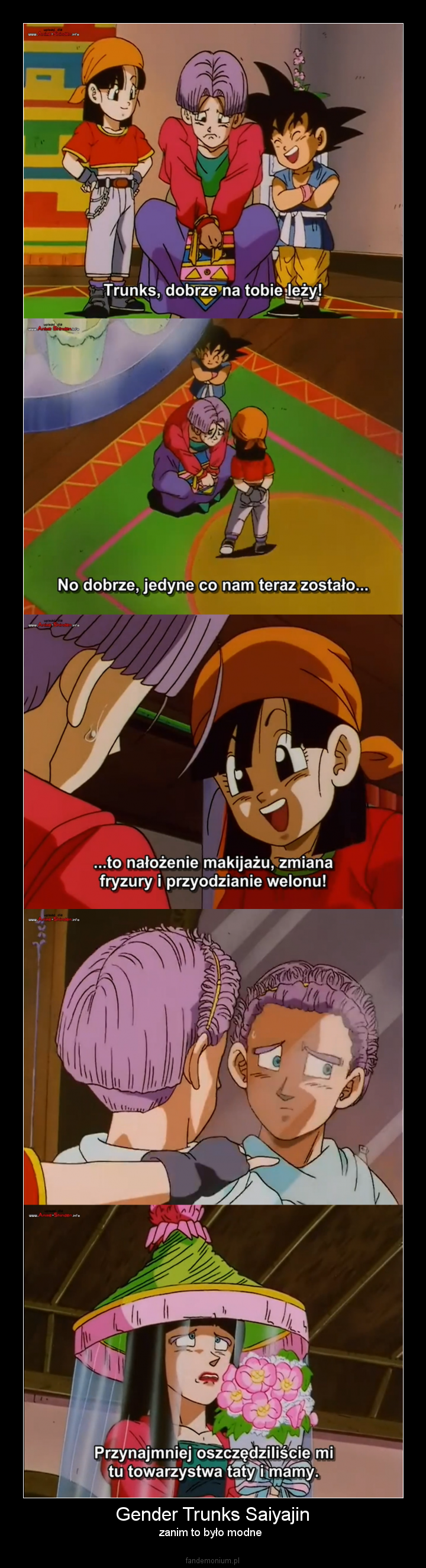 Gender Trunks Saiyajin - zanim to było modne