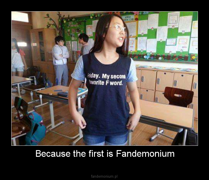 Because the first is Fandemonium -