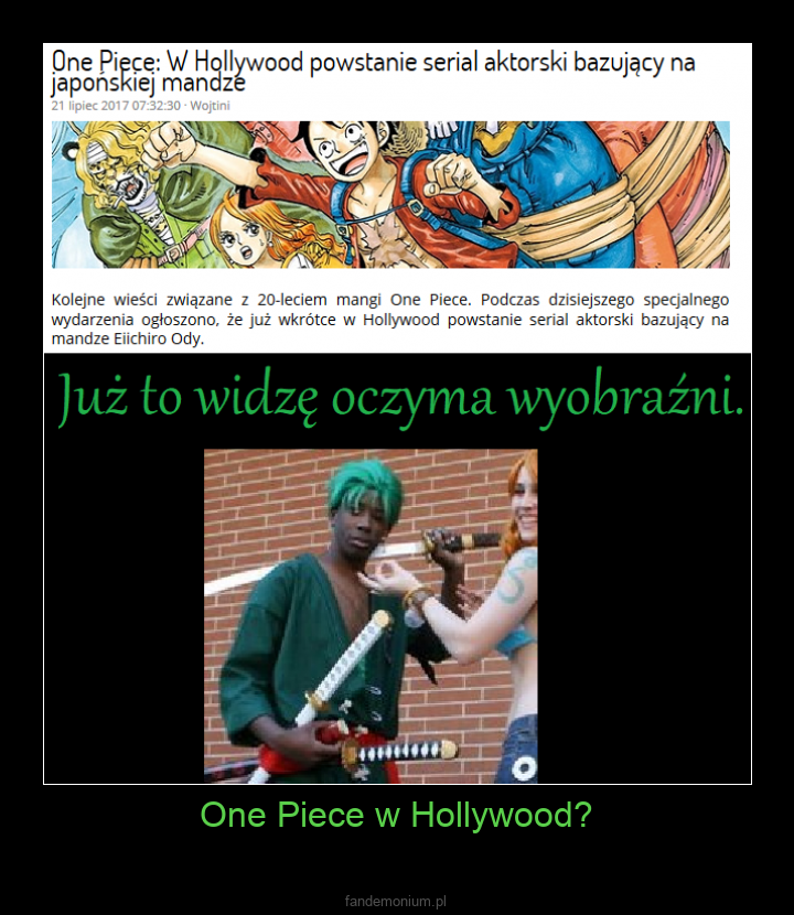 One Piece w Hollywood? -