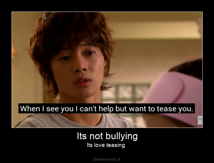 Its not bullying - Its love teasing